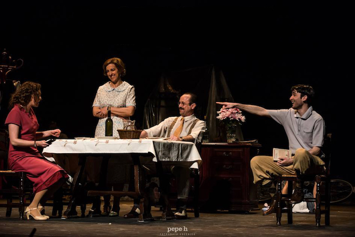 Ases, Barrera, Freytez y Fontalba (de izq. a dcha), protagonizan el montaje // FOTO: Rafa Márquez
