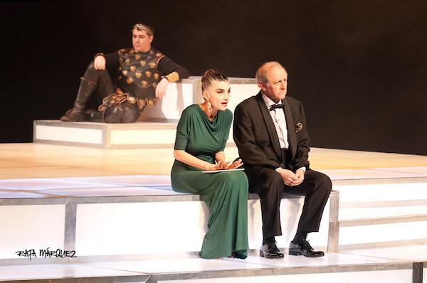 Emilio Gutiérrez Caba y Ángela Molina son 'César y Cleopatra' // RAFA MÁRQUEZ