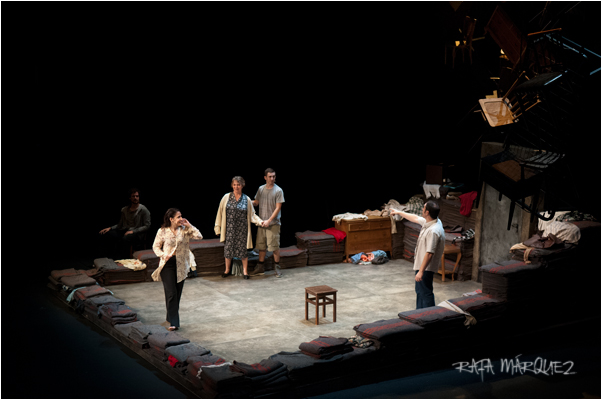 Un momento de la representación en el Teatro Circo Murcia