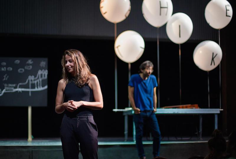 Los actores Irene Escolar e Israel Elejalde (www.teatrokamikaze.com)