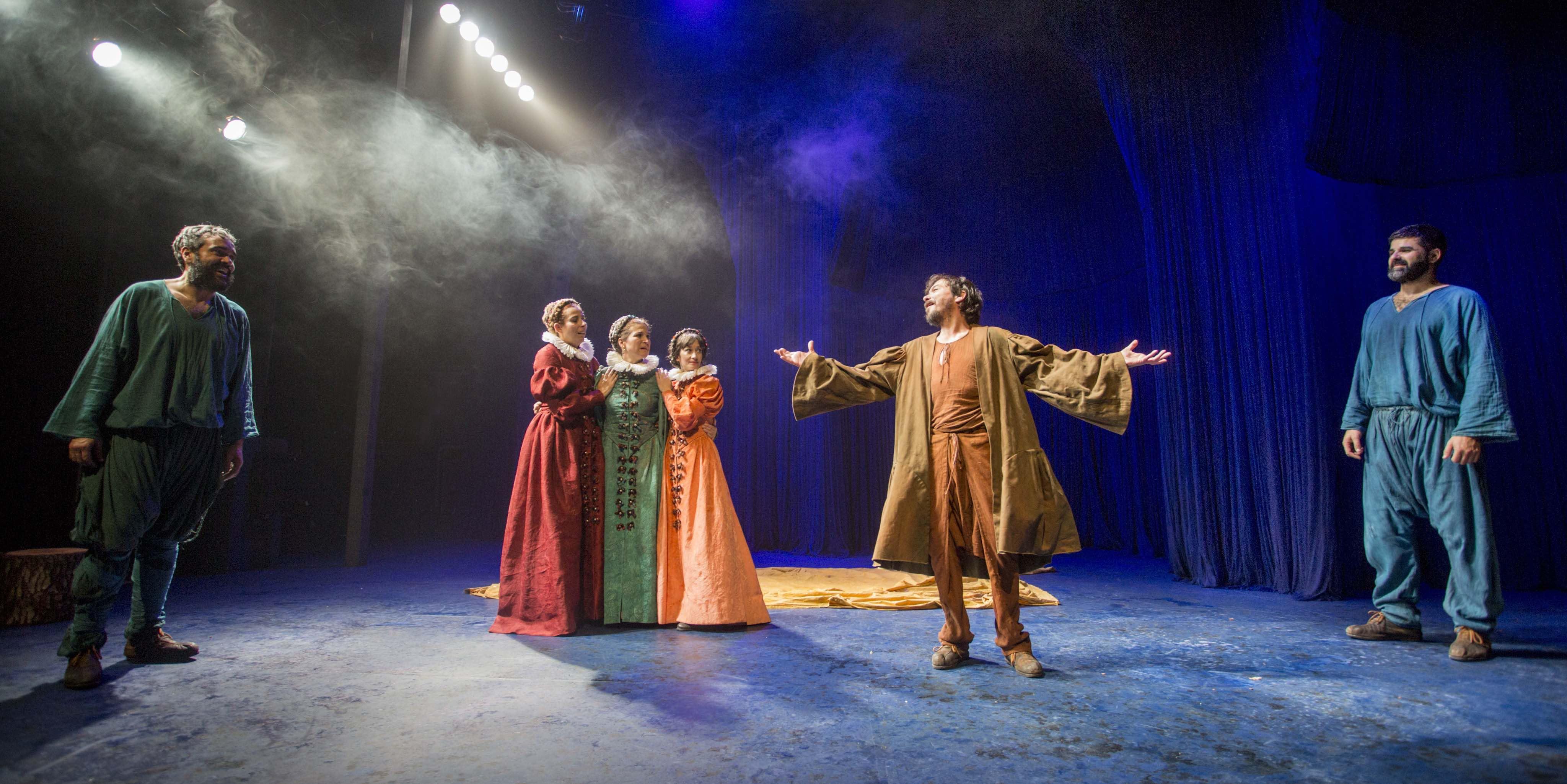 Los actores de 'La Ternura', sobre el escenario // FOTO: Luis Castilla_elNorte (www.teatrodelaciudad.es)