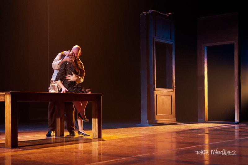 Manuel de Reyes y Esperanza Clares, sobre el escenario del TCM