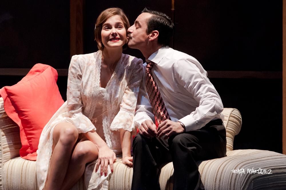 Los actores Natalia Sánchez y Jorge Basanta son Ninette y Andrés // RAFA MÁRQUEZ