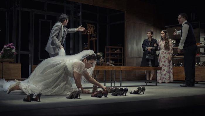 Los actores de 'Todo el tiempo del mundo', sobre el escenario // Vanessa Rabade (www.kamikaze-producciones.es)