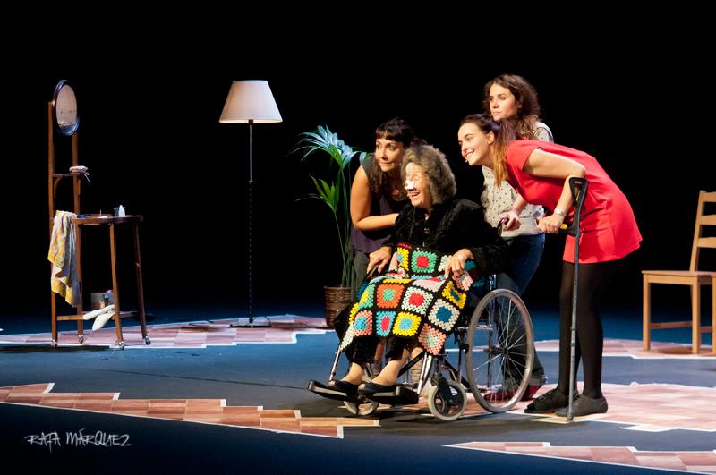 Las actrices de 'Verano en diciembre', durante la representación en el TCM