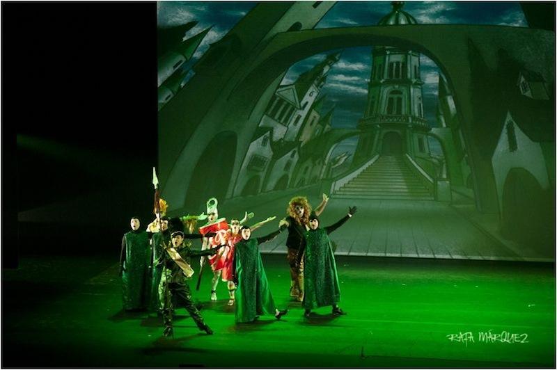 Un momento de la representación de 'El Mago de Oz'