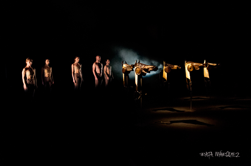 Los actores de 'Equus', en el Teatro Circo Murcia. FOTO. RAFA MÁRQUEZ