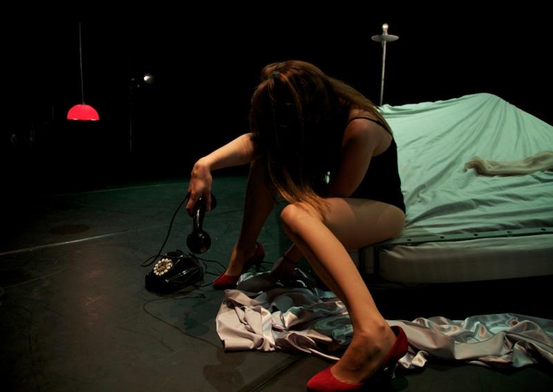 Eloísa Azorín es 'La mujer sin atributos'. FOTO. CíA FERROVIARIA